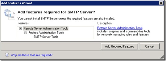 Windows Server 2008, SharePoint and the Missing SMTP Server